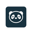 panda icon Rounded squares button vector image vector image