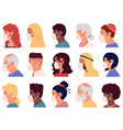people in mask avatars cartoon profile portraits vector image