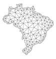 polygonal 2d mesh map of brazil vector image