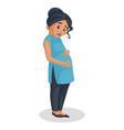 pregnant woman cartoon vector image