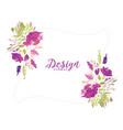 purple watercolor flower decorative floral vector image