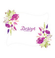 purple watercolor flower decorative floral vector image vector image