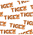 seamless texture tiger happy new year 2022 vector image vector image