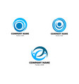 set of people logo design template with circle vector image vector image
