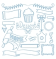 Set of ribbons frames for bakery menu vector image