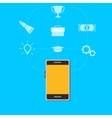 Smart phone gadget cartoon vector image vector image