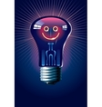 Smiling lamp vector image vector image