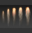 space rocket bomb smoke isolated on transparent vector image vector image