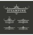 Steampunk Labels Set vector image