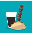 Taco and soda of fast food concept vector image vector image
