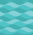 teal waves seamless pattern background vector image vector image