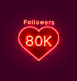 thank you followers peoples 80k online social vector image