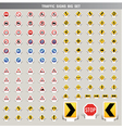traffic signs big set vector image