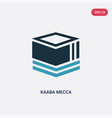 two color kaaba mecca icon from religion concept vector image vector image