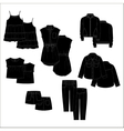 Vecor kids clothes Black color vector image