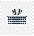 wireless keyboard concept linear icon isolated on vector image