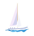 yacht on the water vector image vector image