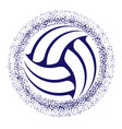 abstract volleyball grunge symbol background vector image vector image