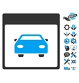 Automobile Car Calendar Page Icon With vector image