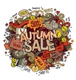 Autumn sale hand lettering and doodles elements