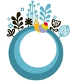 Banner with snail and flowers vector image