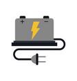 battery cartoon fla vector image vector image