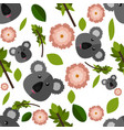 beautiful cartoon seamless pattern with koala vector image