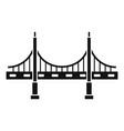 big metal bridge icon simple style vector image vector image