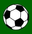big soccer ball vector image vector image