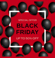 black friday concept background realistic style vector image