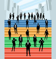 business people on the stairs vector image vector image