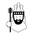 cartoon king icon vector image