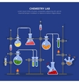 Chemistry laboratory or science lab equipment vector image vector image