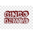 Cinco de Mayo Lettering text header for greeting vector image vector image
