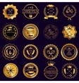 collection vintage round golden badges vector image vector image
