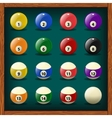 Complete set of balls for pool vector image