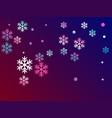 crystal snowflake elements winter design vector image