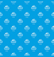 curling pattern seamless blue vector image vector image