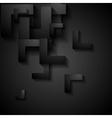 Dark geometry corporate background vector image vector image