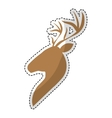 deer emblem icon image vector image