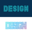 design lettering in linear style vector image vector image