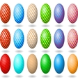 Easter eggs 2 vector image vector image