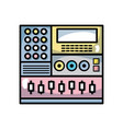 electronic audio console to play music performer vector image vector image