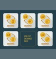 exchange cryptocurrency dash for different vector image vector image