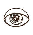 Eye rough symbol vector image
