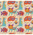 fantastic animals seamless pattern vector image