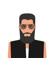 flat cartoon hipster character vector image vector image