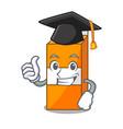 graduation package juice character cartoon vector image vector image
