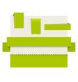 green paper tags - ribbons vector image vector image