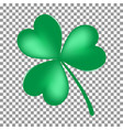 green shamrock leave icon isolated on transparent vector image vector image